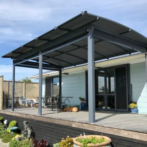 Pergola cover small decked area