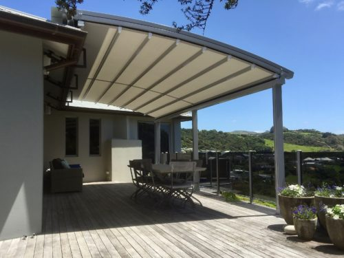 Oztech retractable awning